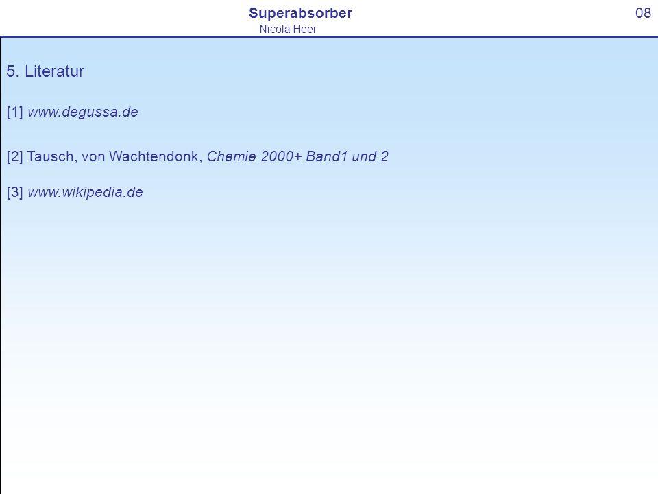 5. Literatur Superabsorber 08 [1] www.degussa.de